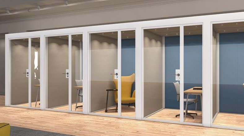 Modular acoustic rooms are great for private working areas